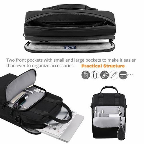 Wiwu Alpha Vertical Double Layer Bag Polyester Laptop (4)