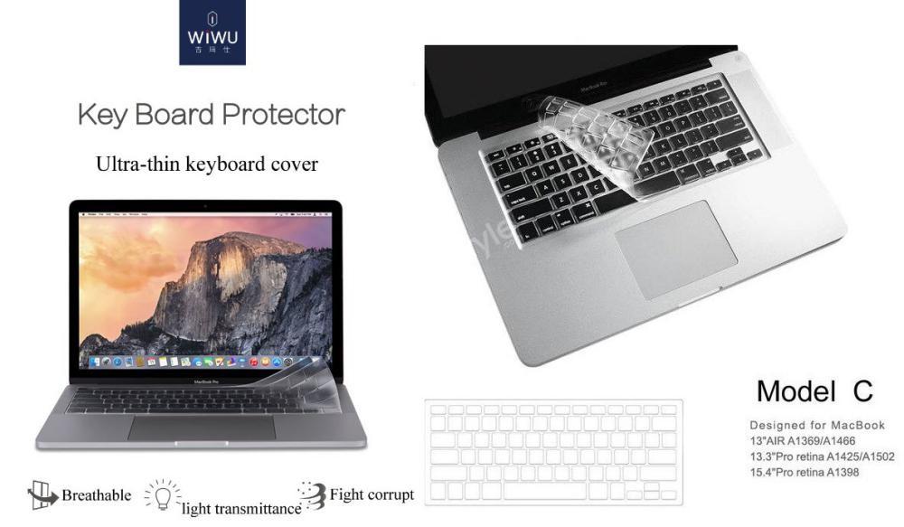 Wiwu Us Layout Laptop Keyboard Cover For Apple Macbook (2)