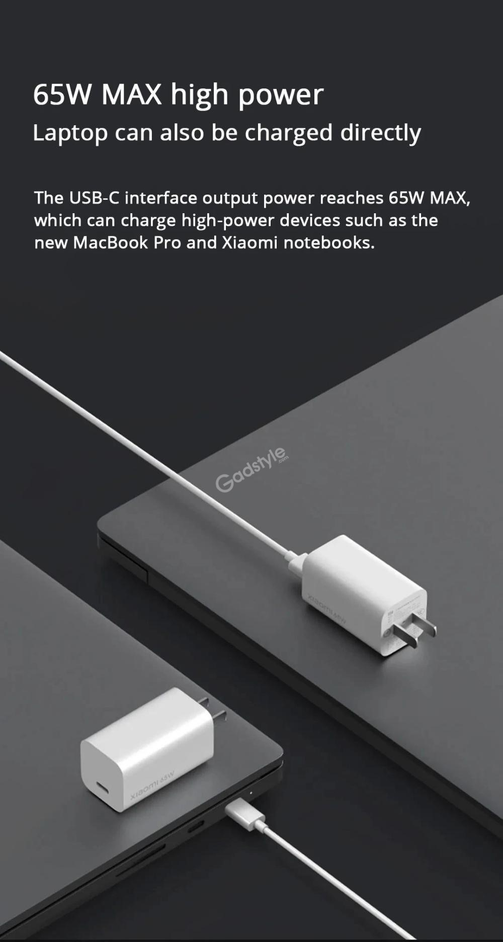 Xiaomi Mi Gan Charger 65w Type C Usb Charger (1)