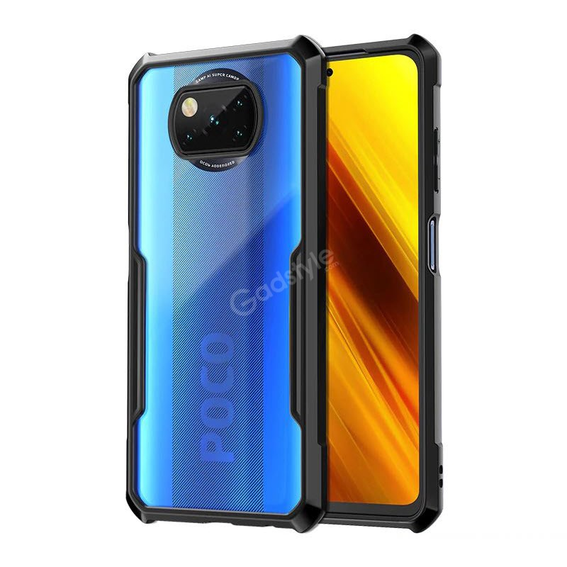 Xundd Poco X3 Case Clear Back Shockproof Ant Scratch Cover (4)