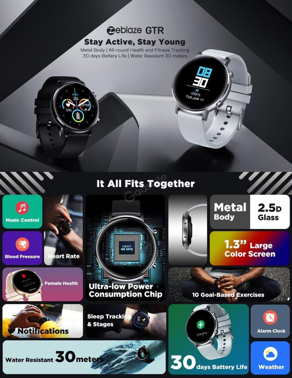 Zeblaze Gtr Curved Screen Smart Watch (3)