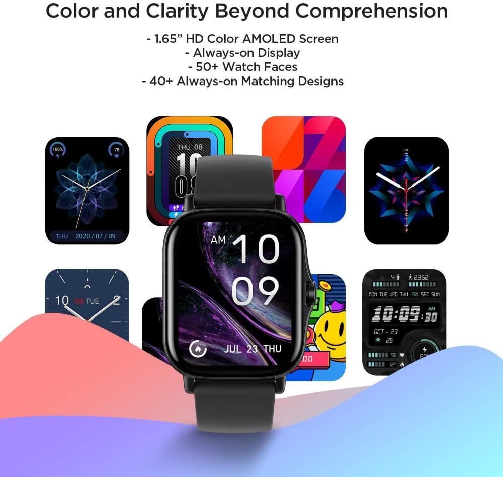 Amazfit Gts 2 Amoled Display Smartwatch Black (2)