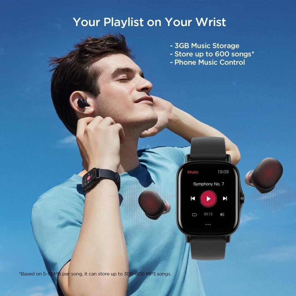 Amazfit Gts 2 Amoled Display Smartwatch Black (3)