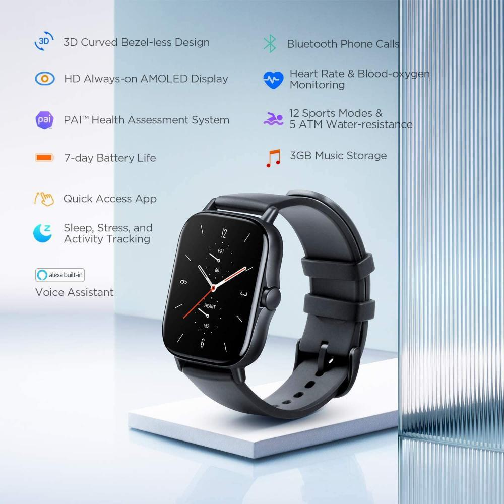 Amazfit Gts 2 Amoled Display Smartwatch Black (4)