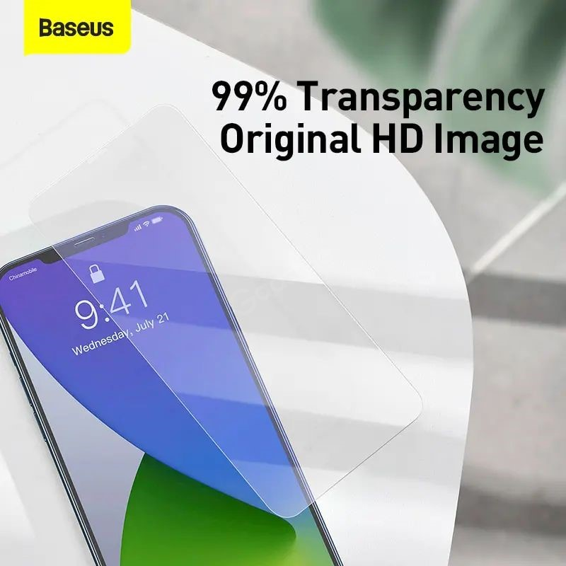 Baseus 2pcs 0 3mm Crystal Clear Screen Protector For Iphone 12 Series (6)