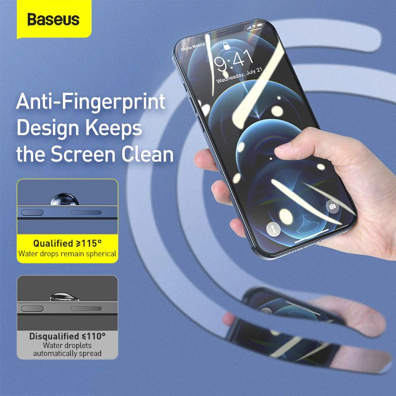 Baseus 2pcs 0 3mm Full Screen Full Glass Tempered Glass Film (4)