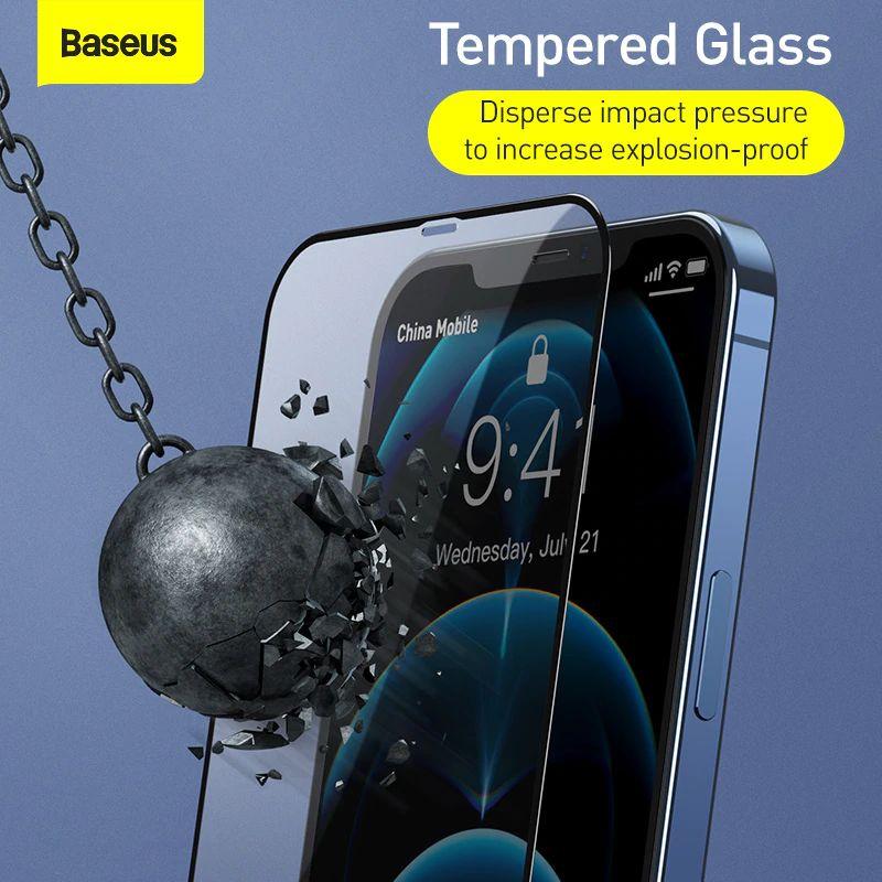 Baseus 2pcs 0 3mm Full Screen Full Glass Tempered Glass Film