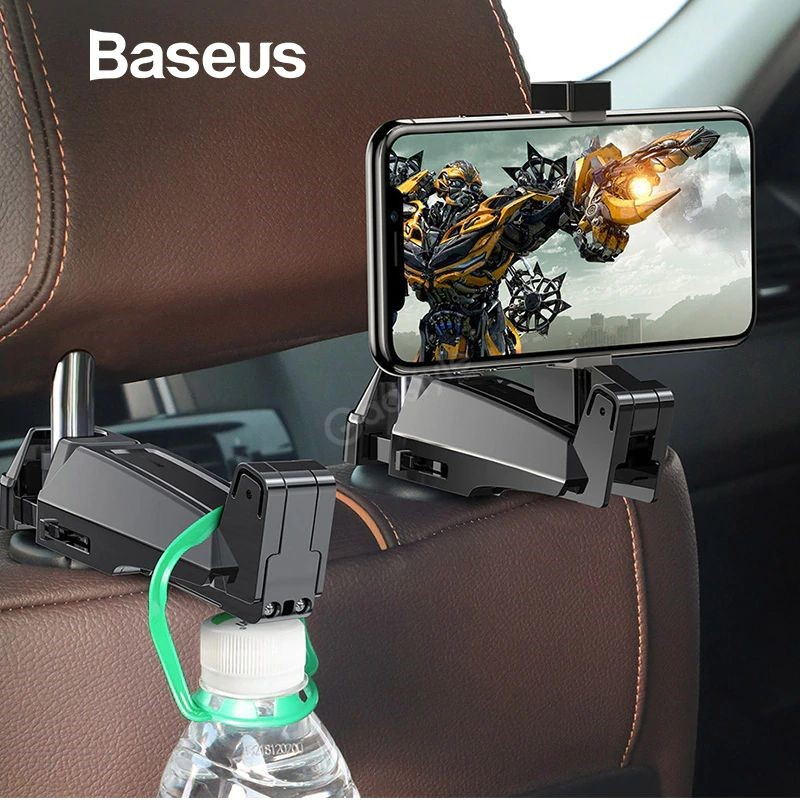 Baseus Back Seat Hook Car Mount Phone Holder (2)