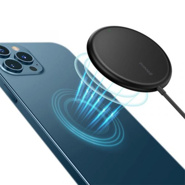 Baseus Bs W522 Simple Mini Magnetic Wireless Charger For Ip 12 Series (1)