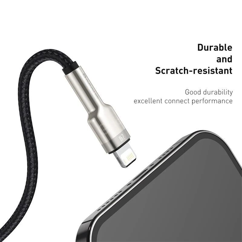 Baseus Cafule Series Metal Data Cable Usb To Iphone Lightning 2 4a (4)