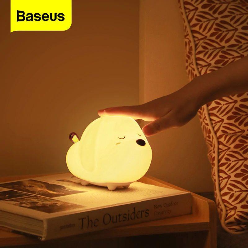 Baseus Cute Night Light Touch Sensor Animal Dog Shape (1) 1