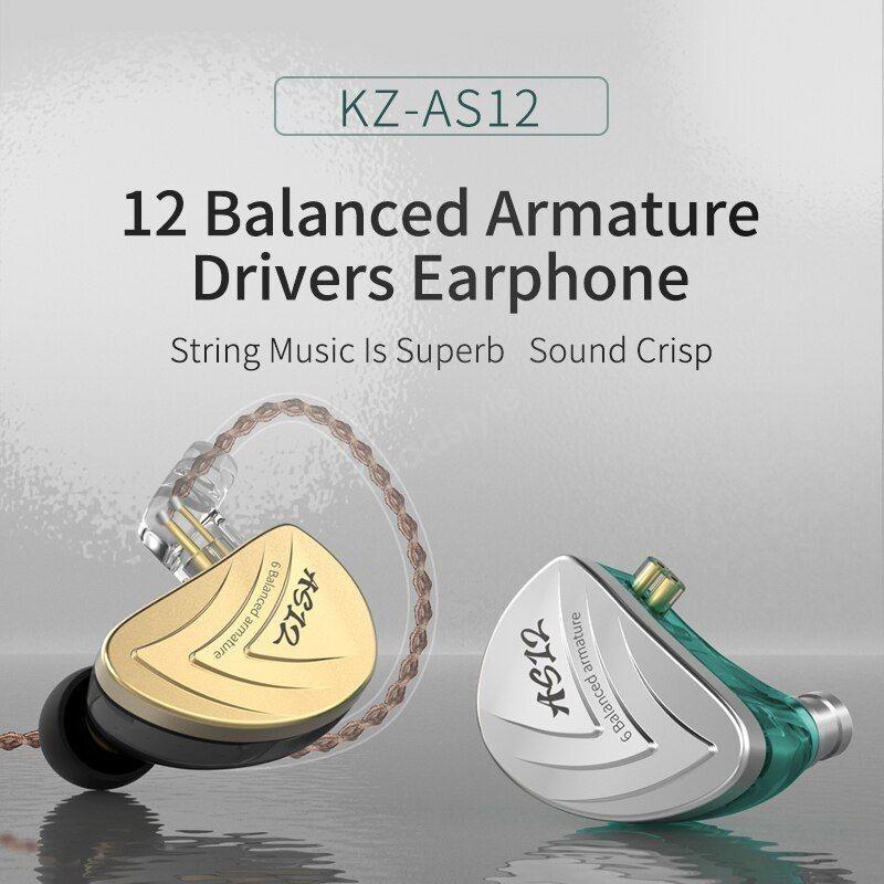 Kz As12 6ba Balanced Armatures In Ear Hifi Metal Earphones (1)