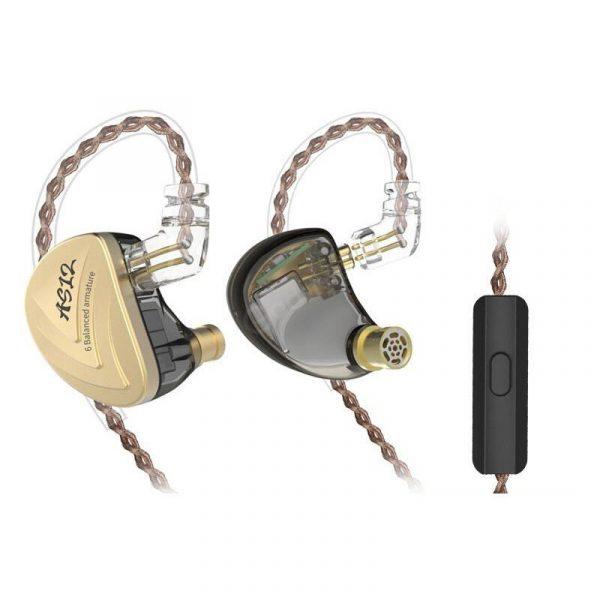 Kz As12 6ba Balanced Armatures In Ear Hifi Metal Earphones (4)