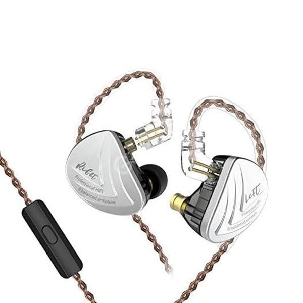 Kz As16 8ba Balanced Armatures Hifi Metal Earphones (1)