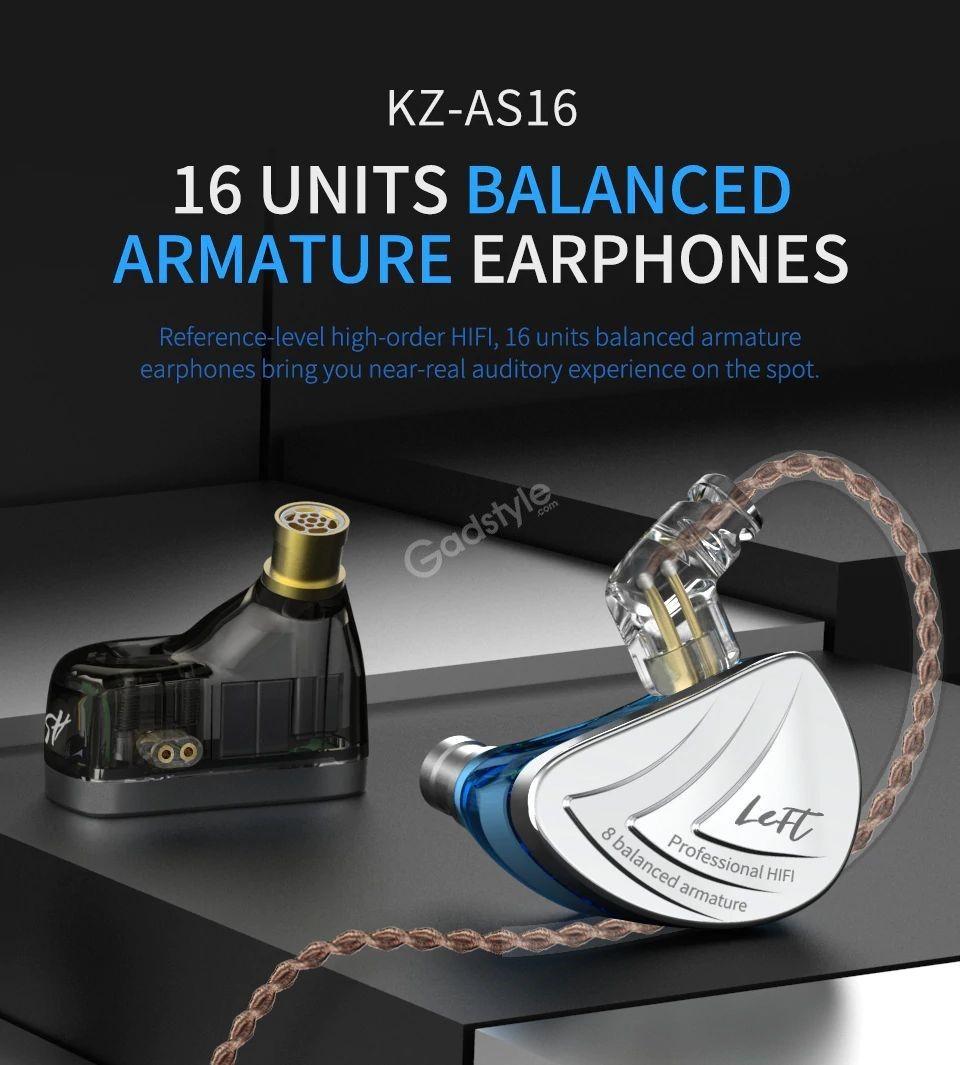 Kz As16 8ba Balanced Armatures Hifi Metal Earphones (11)