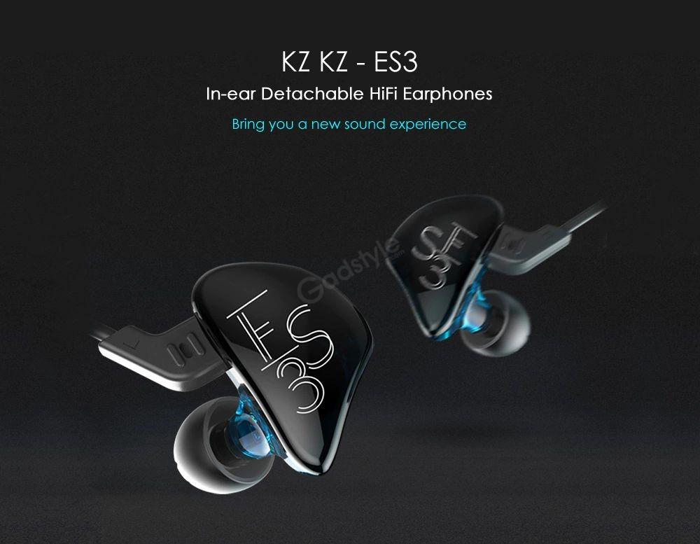 Kz Es3 Balanced Armature With Dynamic In Ear Earphone (2)