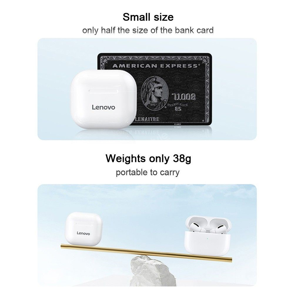 Lenovo Lp40 Tws Wireless Bluetooth Earbuds (1)