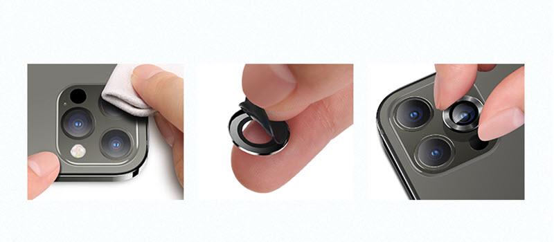 Usams Iphone 12 Series Metal Phone Lens Sticker Separate Design (1)