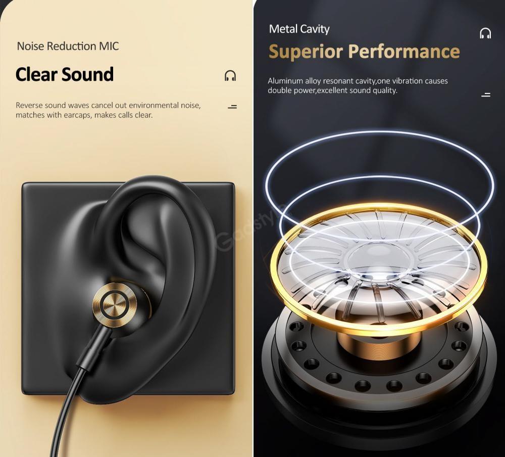 Usams Us Sj482 Ep 43 Type C In Ear Metal Earphone (2)