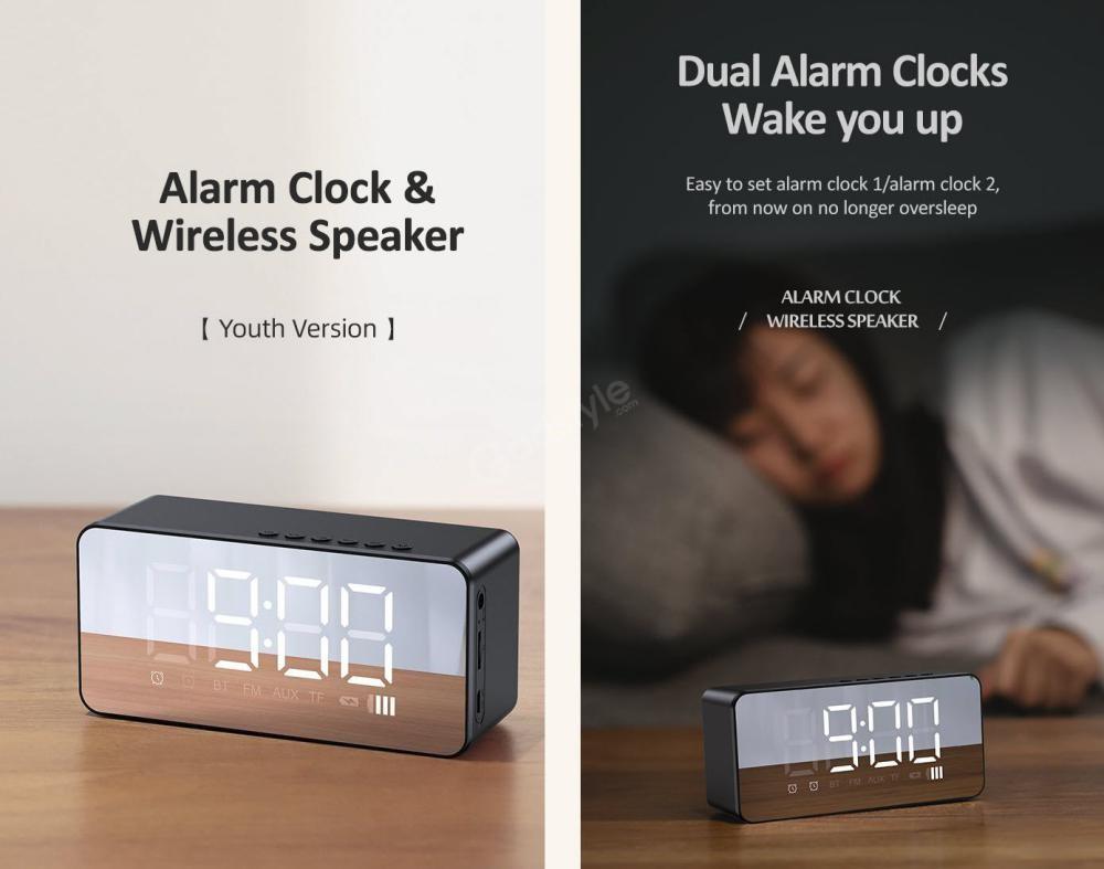 Usams Us Yx007 Multi Functional Alarm Clock Wireless Speaker (2)