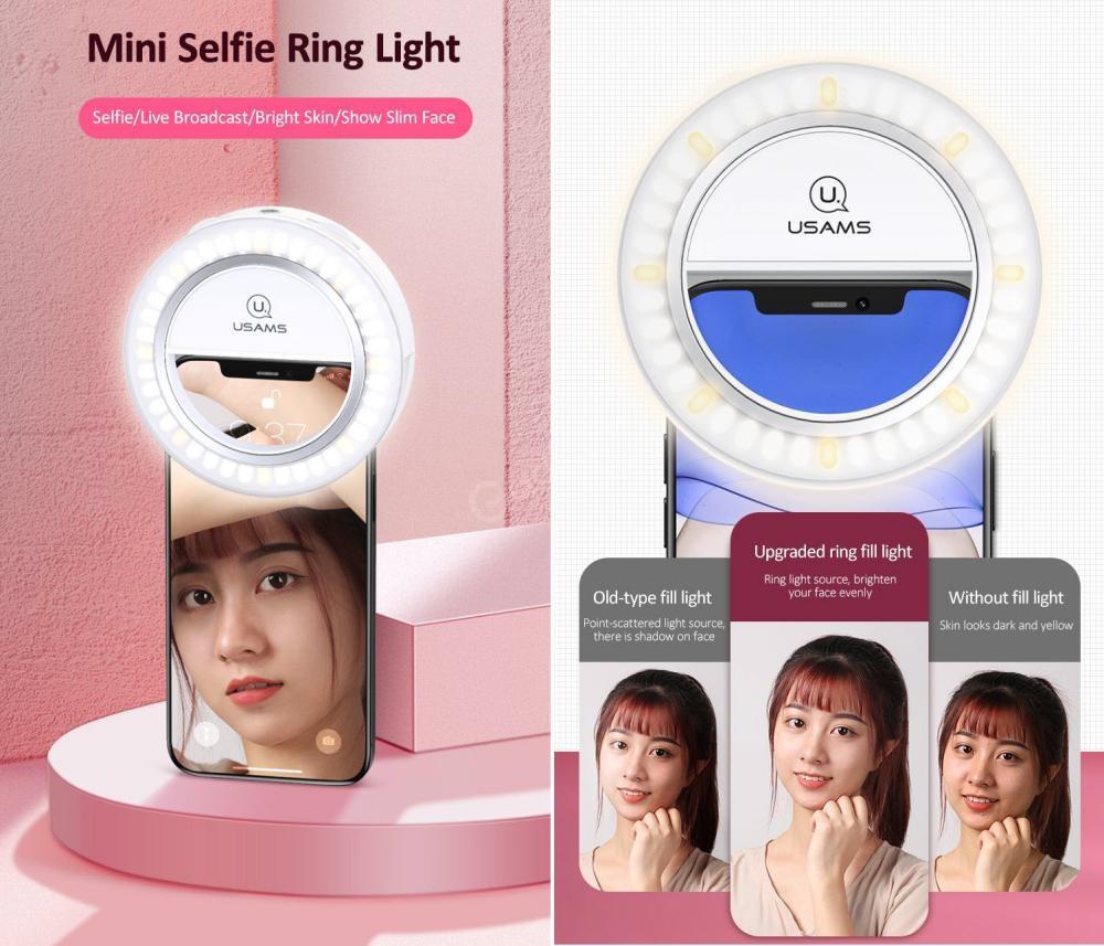 Usams Us Zb182 Mini Selfie Ring Light (1)
