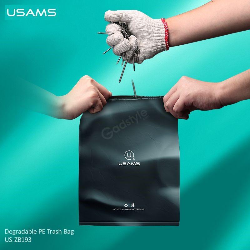 Usams Us Zb192 Alloy Car Degradable Garbage Bag Dispenser Rack (4)