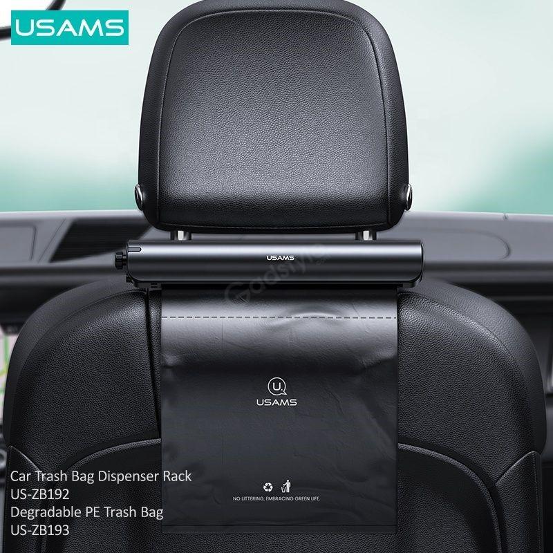 Usams Us Zb192 Alloy Car Degradable Garbage Bag Dispenser Rack (5)