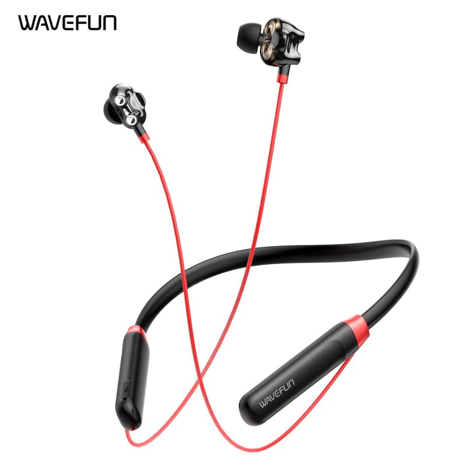 Wavefun Flex U Dual Dynamic Speaker Wireless Neckband Earphone (3)