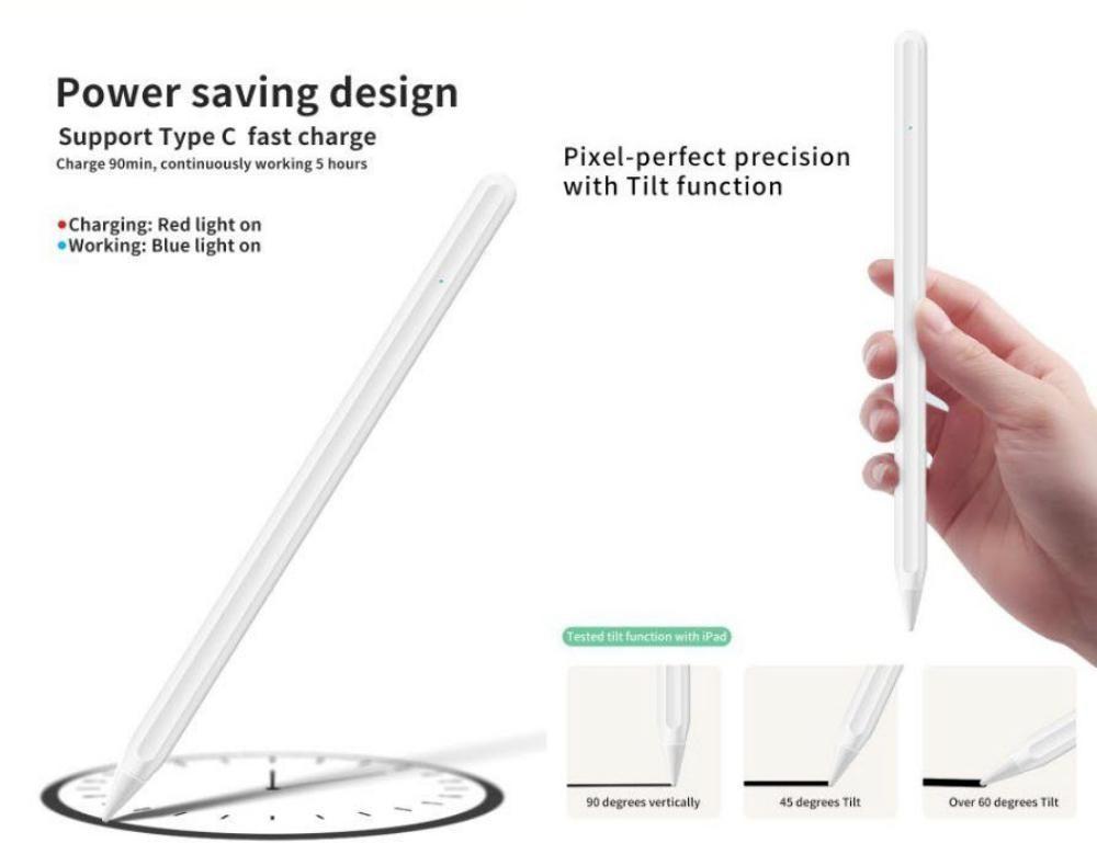 Wiwu Pencil Pro Ipad Palm Rejection Tilt Function Touch Stylus Pen (4)