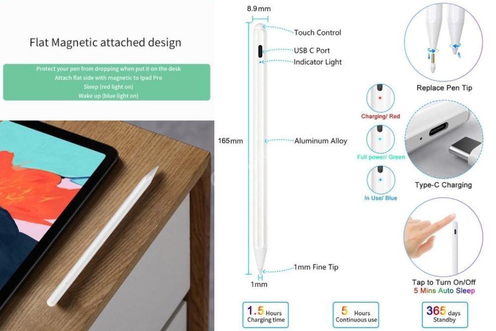 Wiwu Pencil Pro Ipad Palm Rejection Tilt Function Touch Stylus Pen (5)