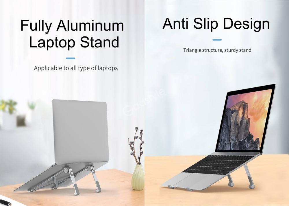 Wiwu S600 Aluminum Alloy Foldable Desktop Mount Laptop Tablet Bracket Stand (3)
