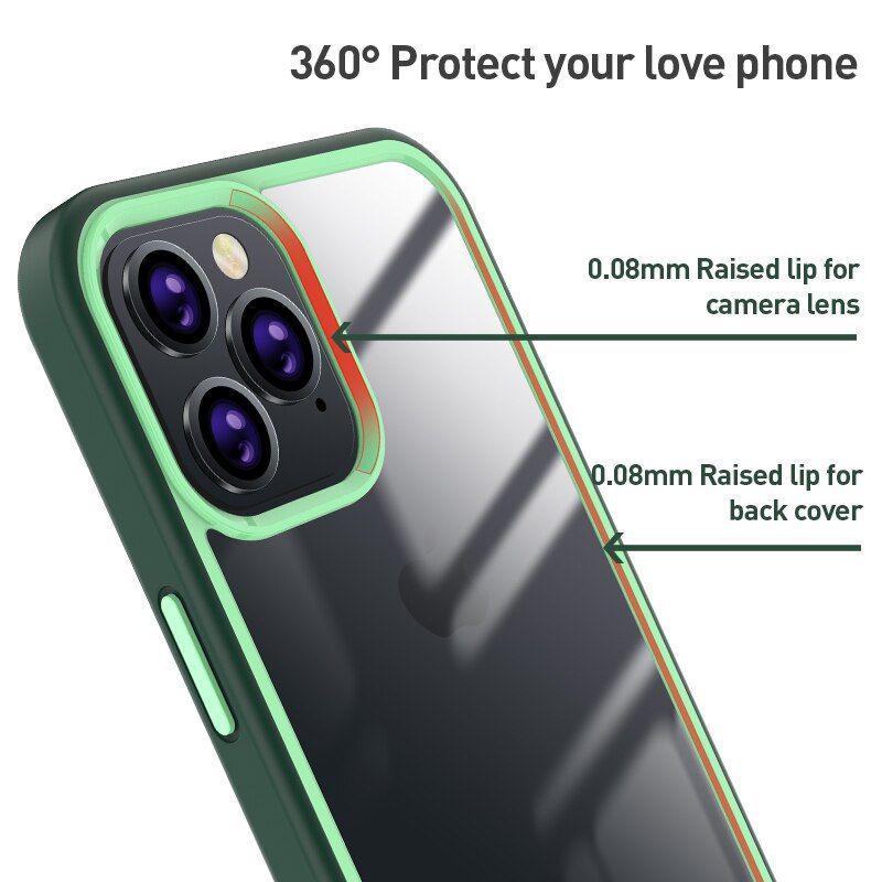 X Level Colourful Series Premium Bumper Case For Iphone 12 Mini 1212pro 12 Pro Max (1)