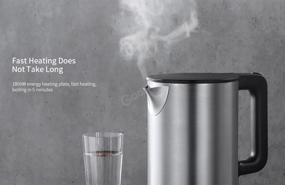 Xiaomi Electric Kettle Fast Boiling 304 Stainless Steel 1 5l Large Capacity 1 8kw (6)