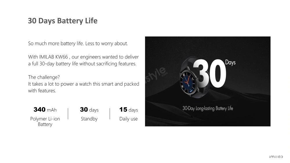 Xiaomi Imilab Kw66 Smart Watch Dual Strap Version (4)