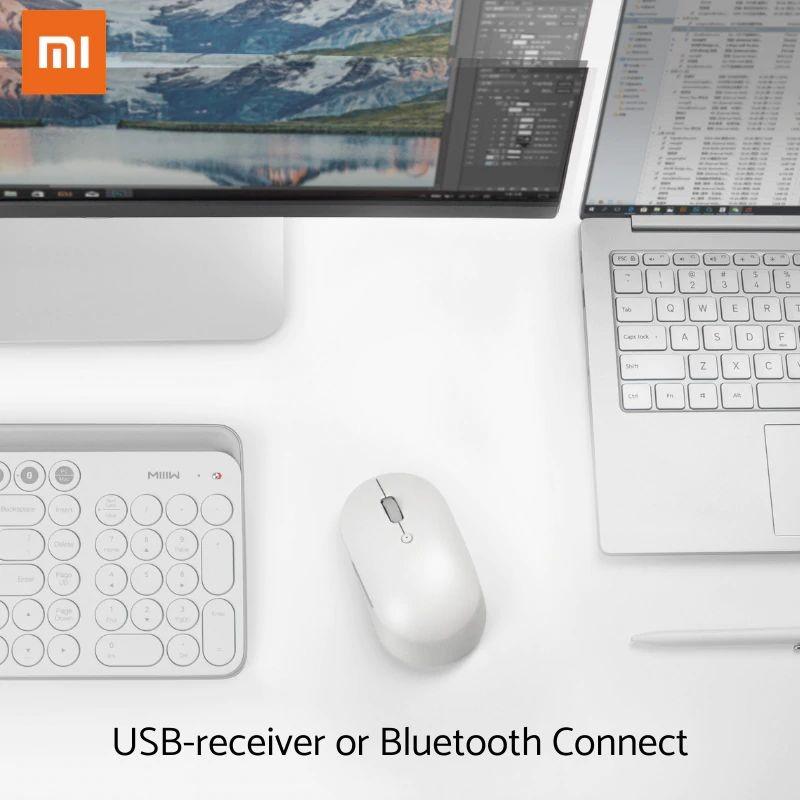 Xiaomi Mi Dual Mode Wireless Mouse Silent Edition Bluetooth 2 4 Ghz (2)