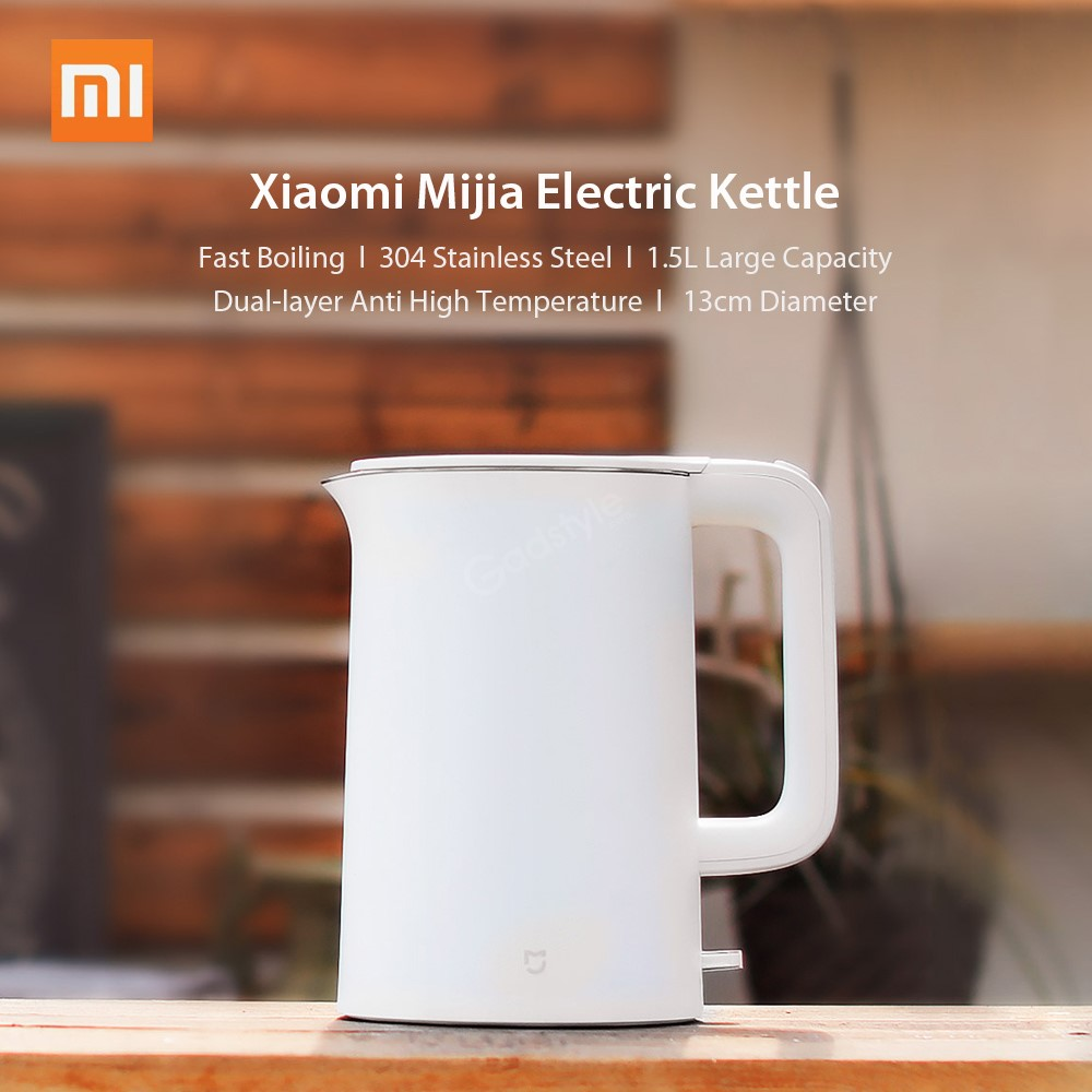 Xiaomi Mijia 1800w 1 5l Stainless Steel Cordless Fast Heating Boiling Electric Kettle (5)