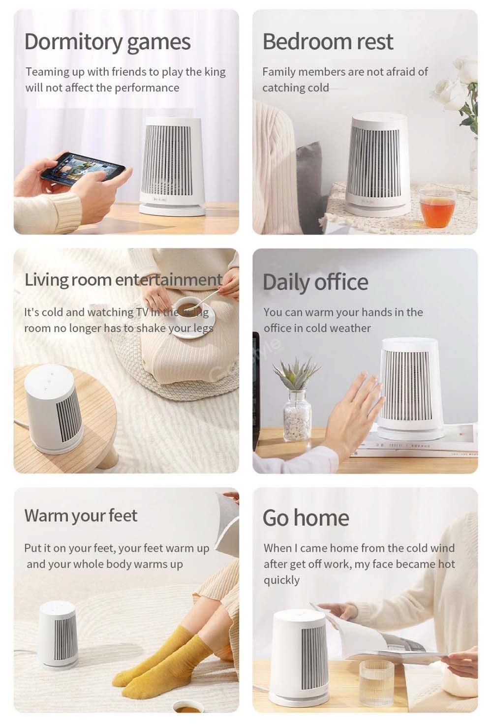 Xiaomi Mijia 600w Ptc Heating Desktop Electric Heater