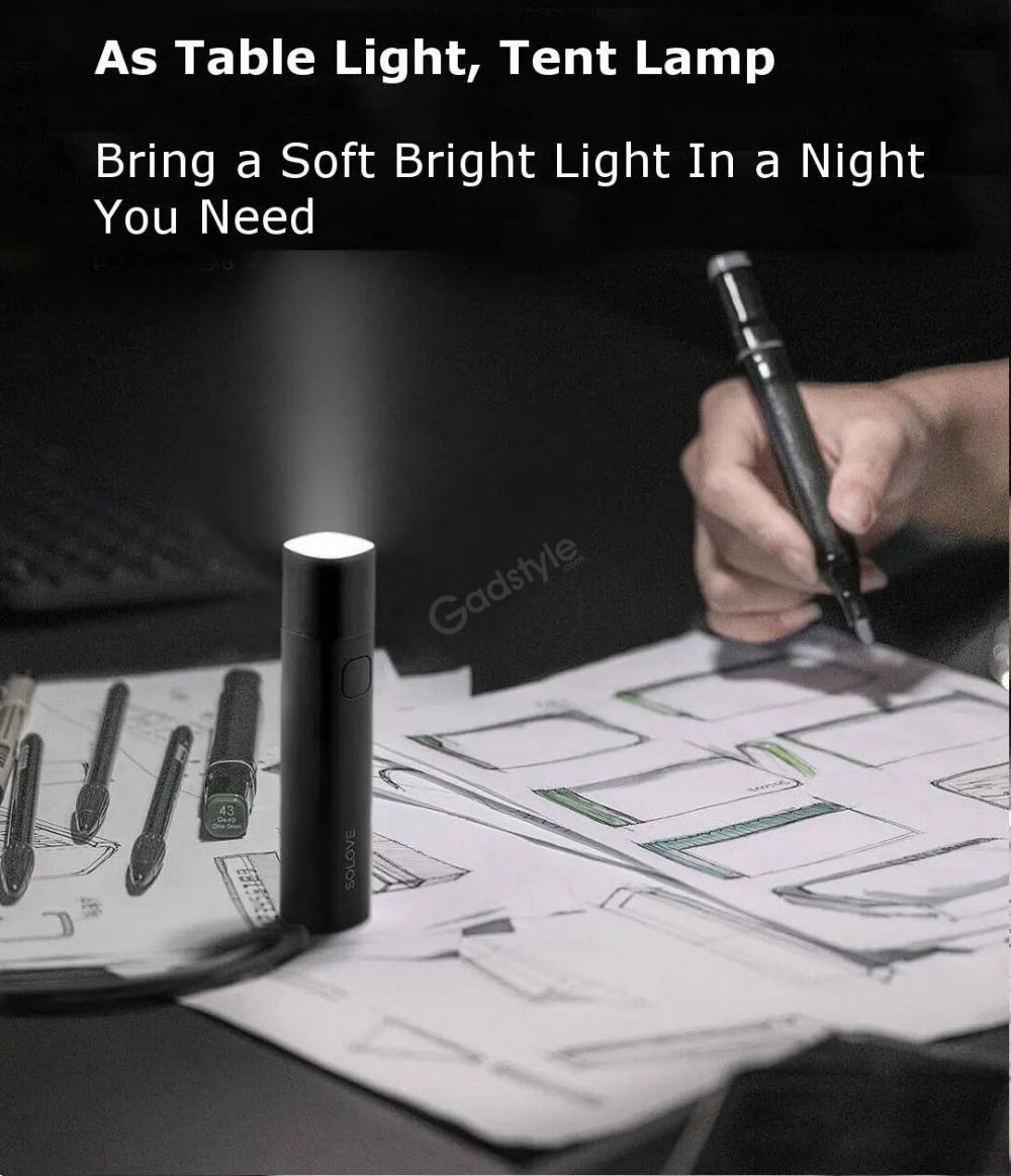 Xiaomi Solove X3 Usb Flashlight 3000mah Power Bank (5)