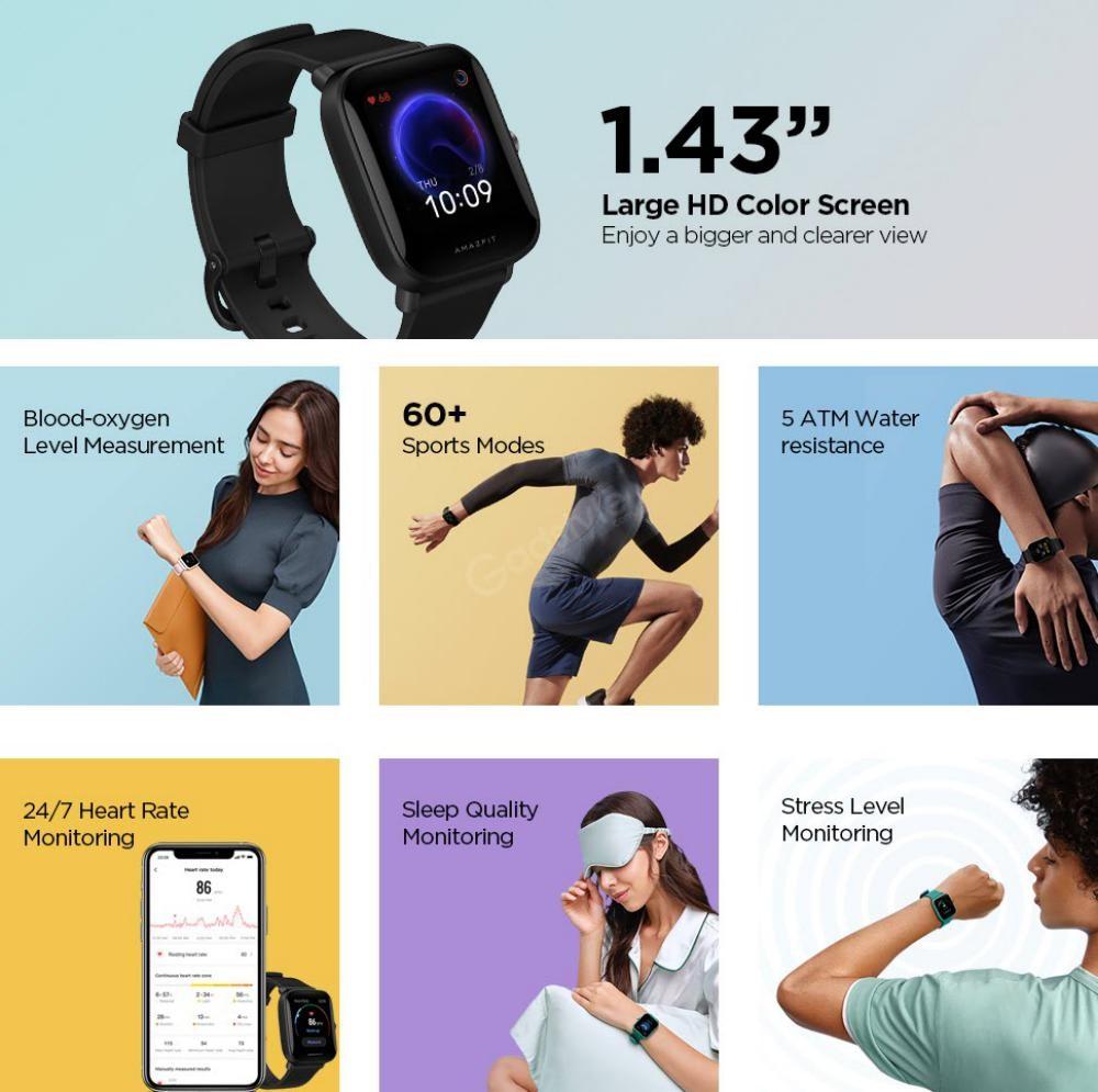 Amazfit Bip U Health Fitness Smartwatch (2)