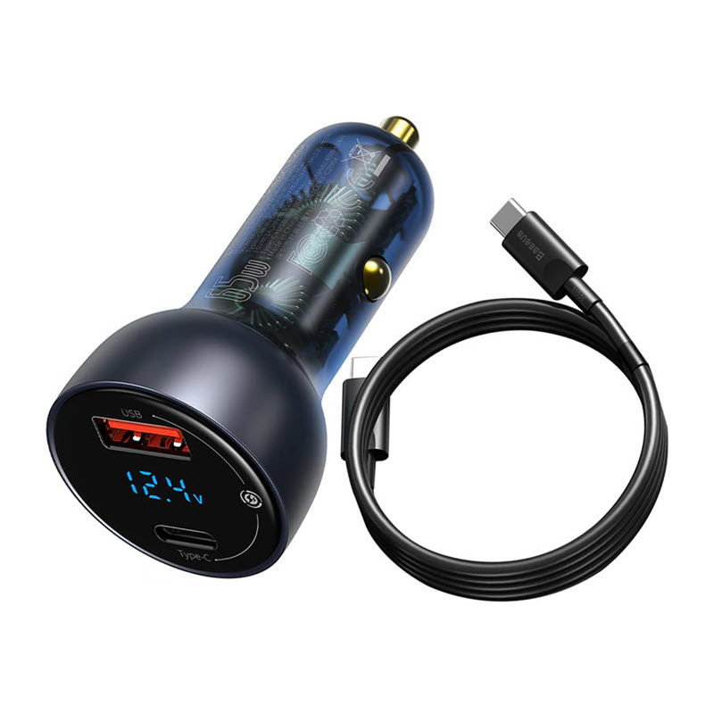 Baseus 65w Car Charger With Type C Cable