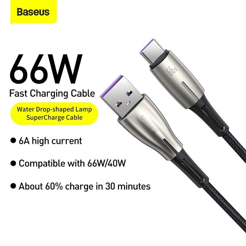Baseus 66w 6a Usb Type C Cable For Huawei Mate 40 Pro Plus Huawei P40 (6)