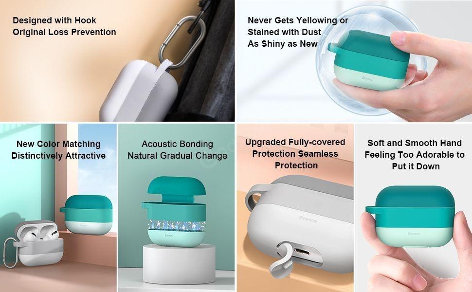Baseus Cloud Hook Silica Gel Case For Airpods Pro (4)