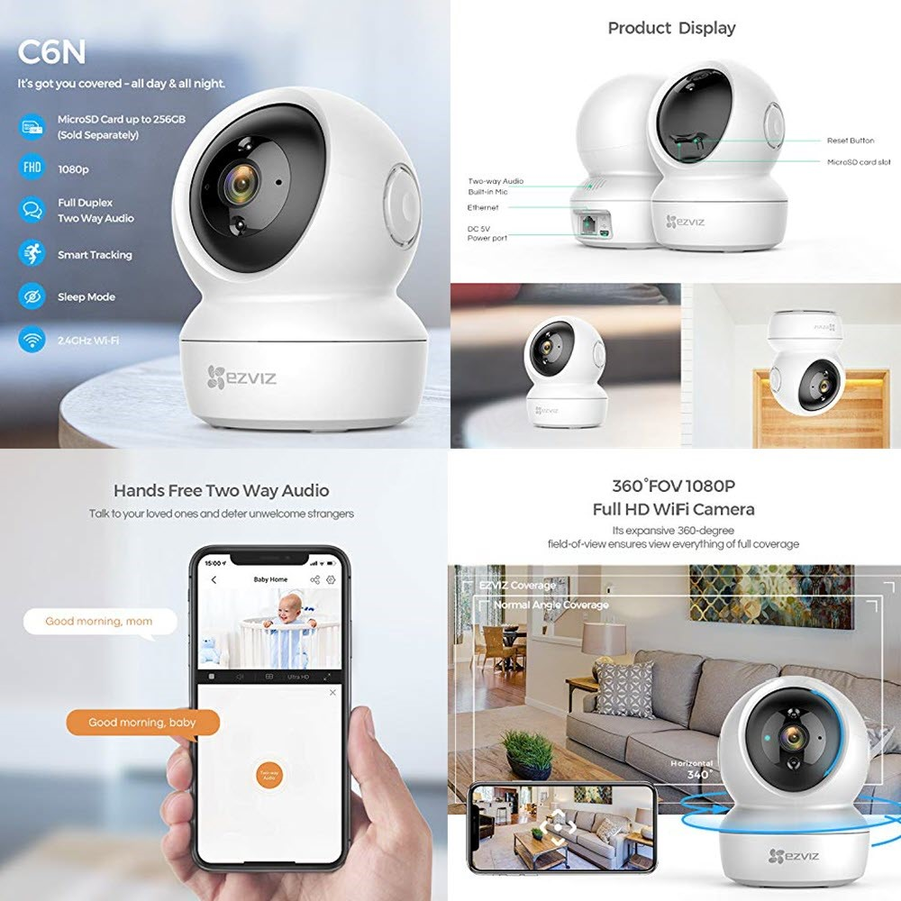 Ezviz C6n Wireless Full Hd 360⁰ Home Camera With Night Vision (2)