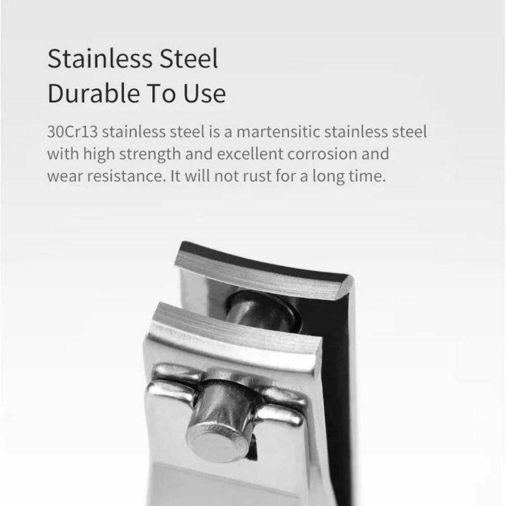 Huohou 5pcs Set Stainless Steel Nail Clipper Beauty Scissors Tweezer Curette (1)