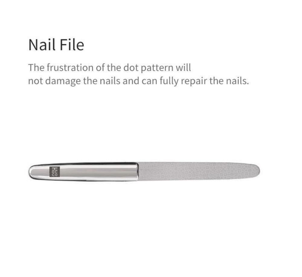 Huohou 5pcs Set Stainless Steel Nail Clipper Beauty Scissors Tweezer Curette ( (5)