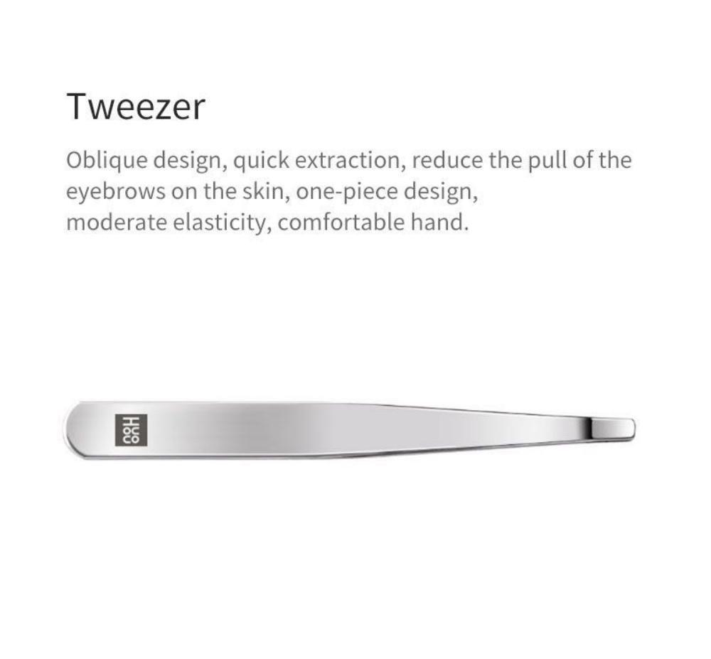 Huohou 5pcs Set Stainless Steel Nail Clipper Beauty Scissors Tweezer Curette ( (6)