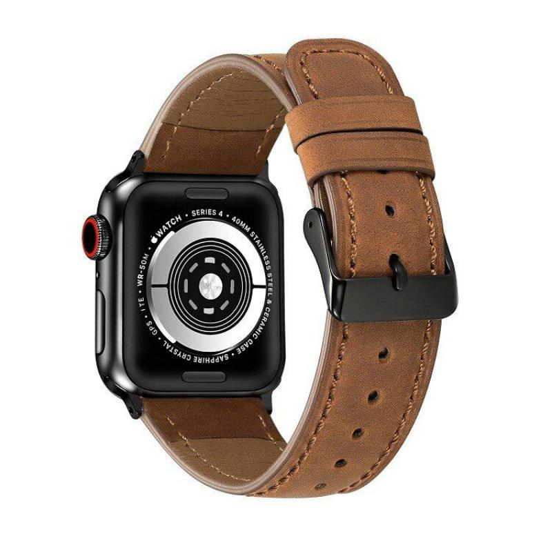 Leather Watch Strap For Apple Watch 42mm 44mm (1)