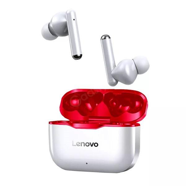 Lenovo Livepods Lp1 Tws Wireless Earbuds Red (2)