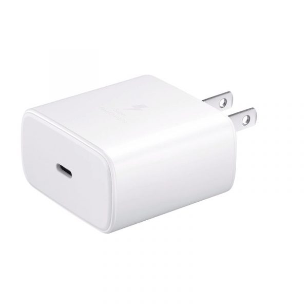 Original Samsung 45w Super Adaptive Fast Charging Adapter With Type C Cable White (1)