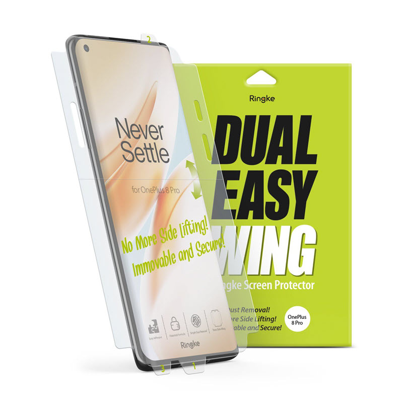 Ringke Dual Easy Film Oneplus 8 Pro Screen Protector (6)